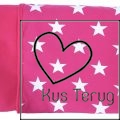 babydekentje roze met witte ster