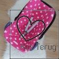 beschermhoes Maxi Cosi roze met witte ster