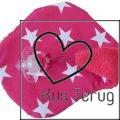 speendoekje roze met witte ster