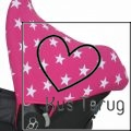 zonnekap Maxi Cosi roze met witte ster