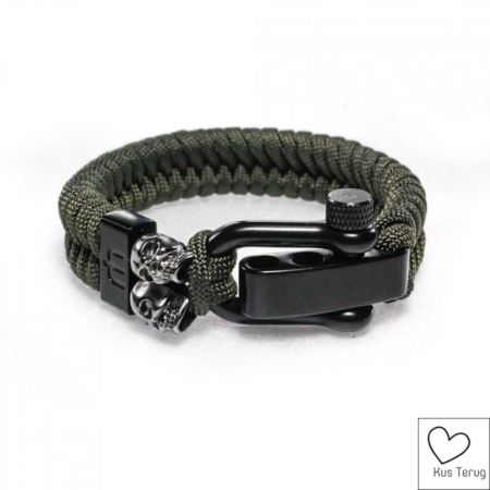 rebel olive green black skull