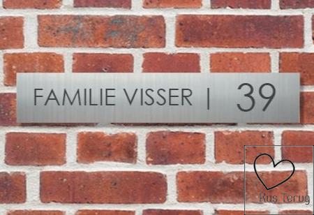 RVS naambord online bestellen