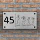 naambord met poppetjes
