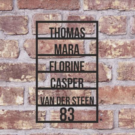 rechthoekig naambord