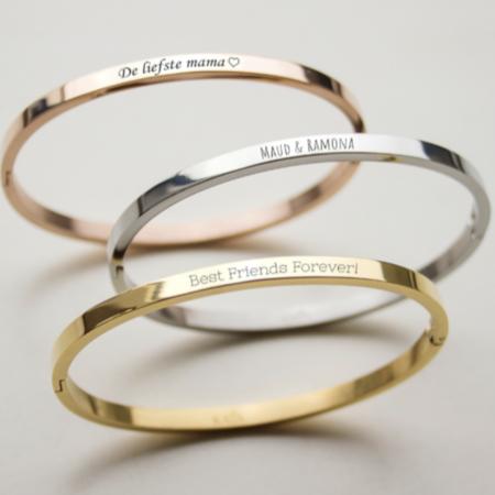 Slaven armband met eigen tekst