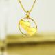 ketting met 2 hartjes in zilver of goud